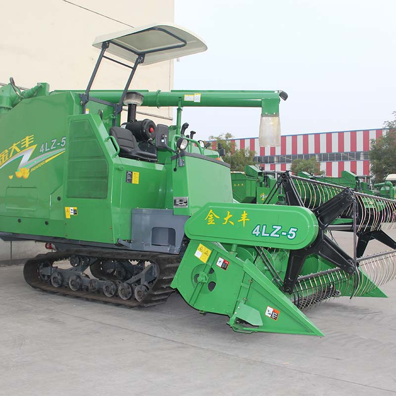 China manufacturer crawer type grain combine rice wheat harvester machine
