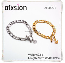 AFXSION jewelry Wholesale Fashion Jewelry NK 316 Stainless Steel Chain Link Anchor Bracelet For Men and Women