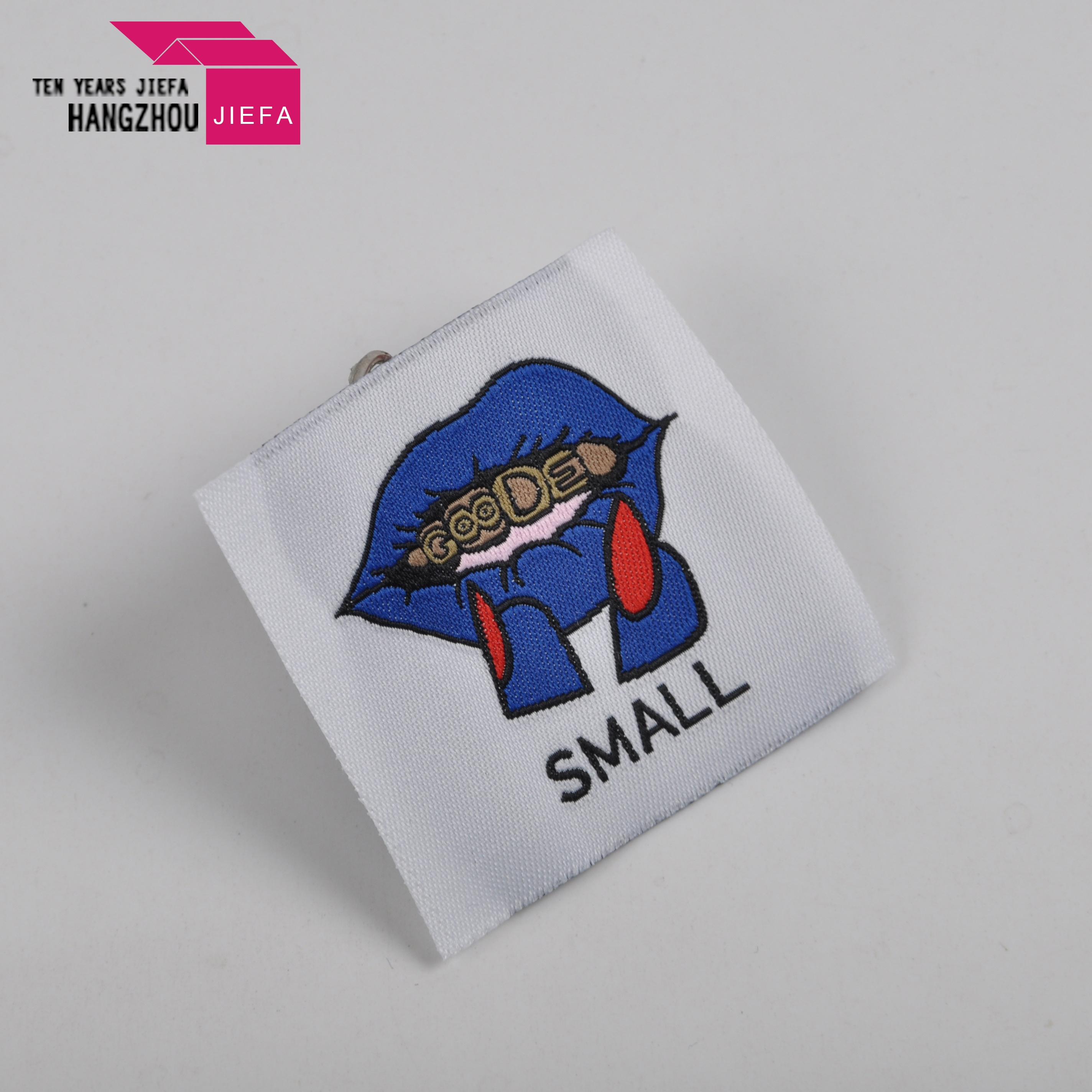 Clothing tag maker custom fabric/woven sewing labels