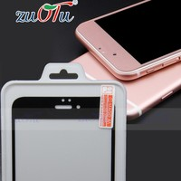 2016 latest design professional colorful tempered glass screen guard for S6 edge