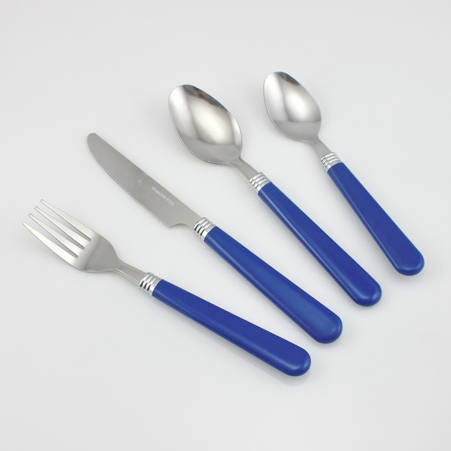 Available customise color of plastic camping cutlery set