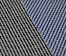 100% cotton blue and white stripes fabric for retail packing