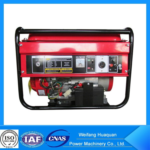 China 10kw generator gasoline type with wheels kit for home use