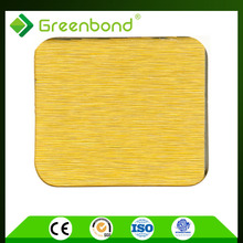 Greenbond high admiration decorative aluminum brushed facade panel acp pvdf panel composite aluminum
