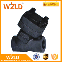 WZLD Manual Operated 3 Inch Y Type Flange Forged Stainless Steel Forged Globe Valve