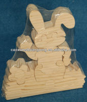 New detachable handcraft educational puzzle rabbit shaped wooden toy