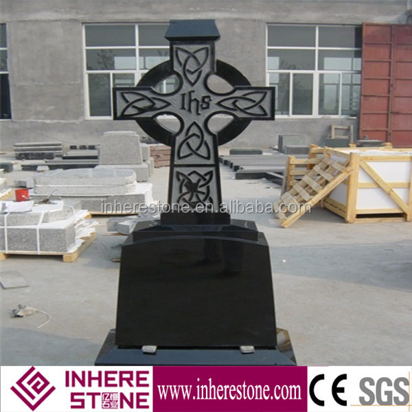 shanxi black granite cross headstones