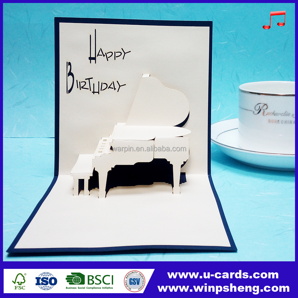 3D happy birthday sound module record your voice greeting card