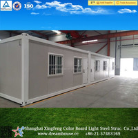 Mobile flat pack box container house/cheap modular container house for sale