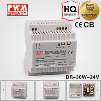 DR-30-24 psu 30w 24v 1.25a switch mode din rail power supply AC DC