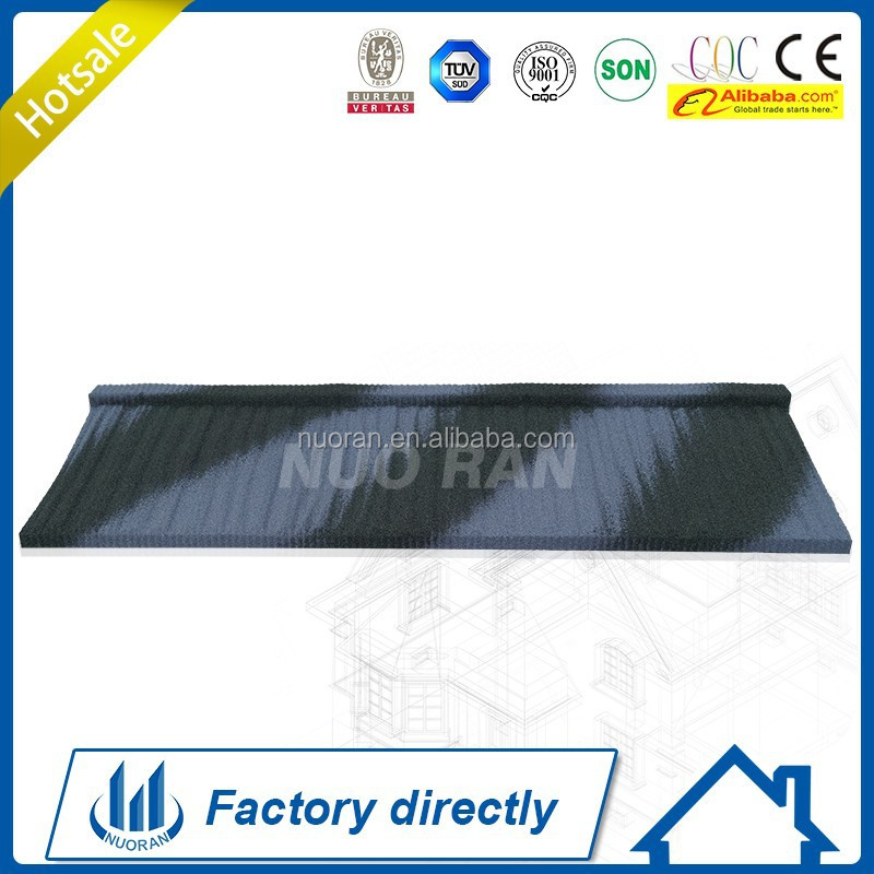 Shinge lRoofing System quality 1170mm Technical Soncap Factory Stone Chip CE SGS Hot sale ISO Stone Coated Metal Roof Tile