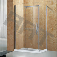Square open glass shower bathroom