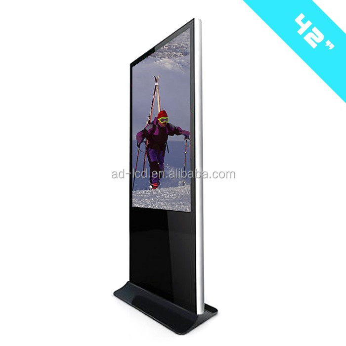 42inch free standing titled LED touch screen kiosk windows 7/8/10 digital kiosks