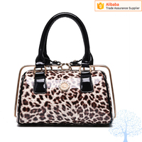 Newest pictures lady fashion handbag leopard pattern style tote bag handbag