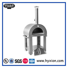 Refractory brick outdoor wood fired stainless steel pizza oven for sale