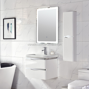 Hangzhou White PVC Corner Furniture Waterproof Bathroom Cabinet