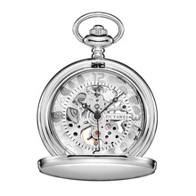 PM7015 Custom your own brand superior quality modern mechanical plain pocket watch for gentleman