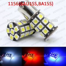 New car 2 X xenon white 1156 BA15S 27SMD car Leds light 5050 canbus auto turn signal reverse light Interior Packing Car Styling