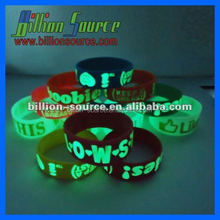 2016 customized logo silicone fluorescent bracelet