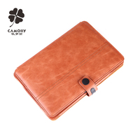 cowhide genuine leather tablet cover case for ipad air 1/2/3/pro leather case with double stands
