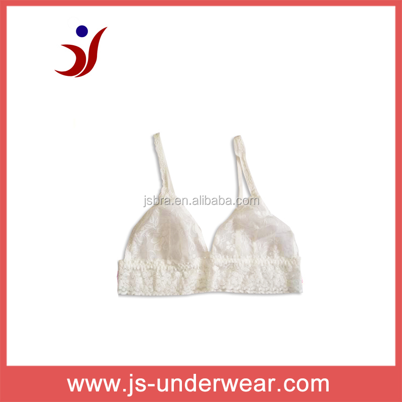 Hot hot design see though white lace bra, girls sexy nipple bra,,JS-148, B/C, Accept OEM