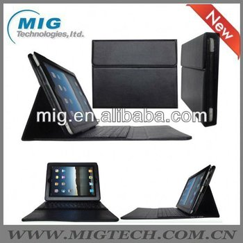 High end Leather Case for ipad 2 3 4, for ipad case with keyboard