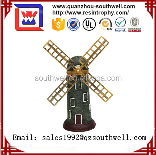 Vintage european style high quality resincraft resin windmill model for home&desk decoration