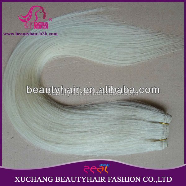 613 Color Weave Human Hair Weft, Blonde Human Hair Weave,Straight Brazilian Human Hair Ombre Color Human Hair Weft