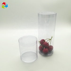 Gift Display Round Clear Plastic Cylinder with Lid