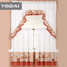 Cheap Price Fashional New Models Austrian Sheer Kitchen Window Printed Curtains