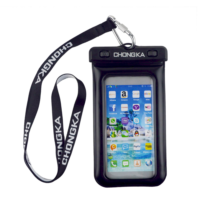 Hot Sale Waterproof Mobile Phone Cases & Bags Beach Handy Waterproof Neck Strap with Cell Phone Pouch