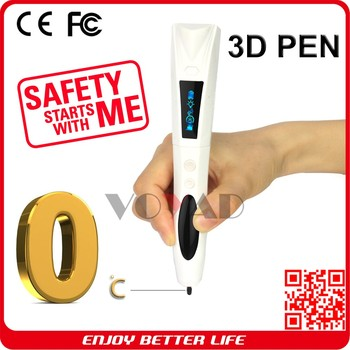 Kid safety 0 temperature 3D Drawing Pen USB Charged 3D Printing pen factory