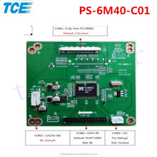 2017 Newest design PS-6M40-C 2K to 4K LCD driver board 4K to 2K adapter board 4K_V-by-One to 2K_LVDS adapter plate