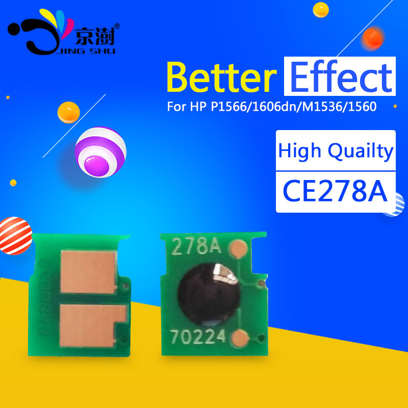 Compatible toner chips CE278A resetter for Hp LaserJet 78A 278A CE278A for HP P1566 1606dn 1606 M1536 1560