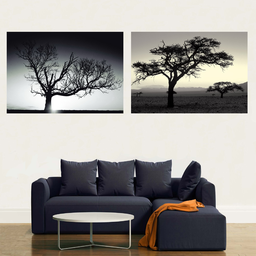 Abstract custom tree acrylic printing services wall painiting for living room decoration