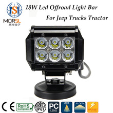 4x4 Car spares parts 18w 4 inch car led lamp led light bar for jeep offroad trucks tractors