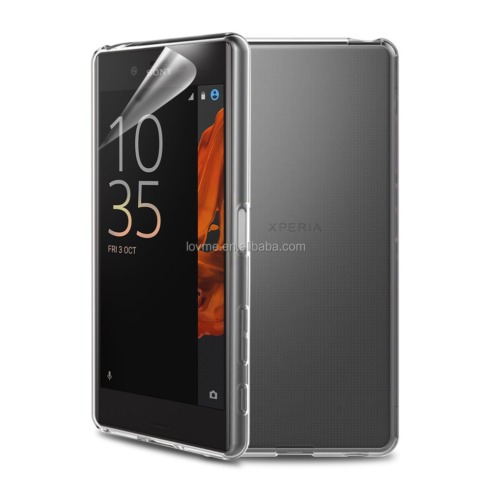 Transparent shockproof tpu MOQ 30 soft gel mobile phone case for sony xperia xz