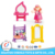 High quality good design plastic miniature house model doll furniture