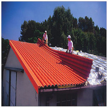 small wave top grade natural plastic pvc roof tile with ridge cap