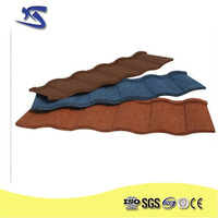colour stone coated metal roofing tiles / new building construction materials metal