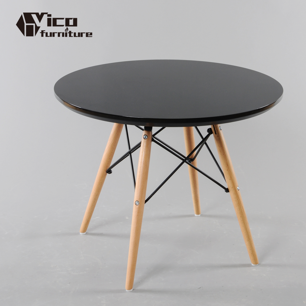 wholesale factory manufacturing white black available round wooden legs modern design wood side end coffee table with price list
