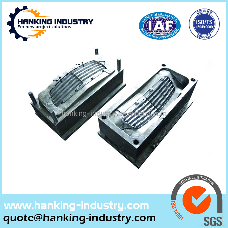 Shenzhen OEM factory auto car front plastic injection chrome grille mold