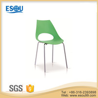 Leisure Lounge Plastic Chair With Chrome Leg