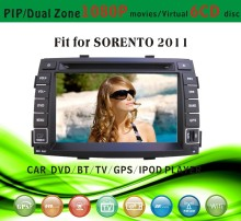 gps receiver car fit for Sorento 2013 with radio bluetooth gps tv pip dual zone