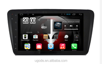 U9 Android 4.4 10.1inch HD1024 Android Car Radio with gps for SKODA Octavia Wifi Multi-touch 3D UI