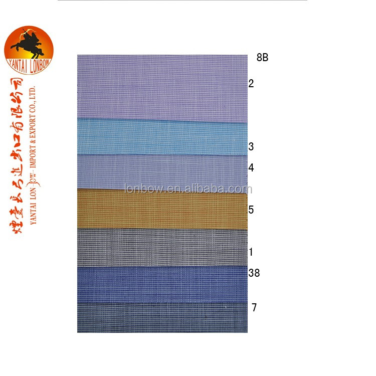 Good quality Slub 65% cotton 35% superfine polyester shirting fabric