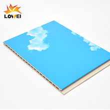 Interlocking blue sky PVC ceiling panel with tongue and groove ceiling panel