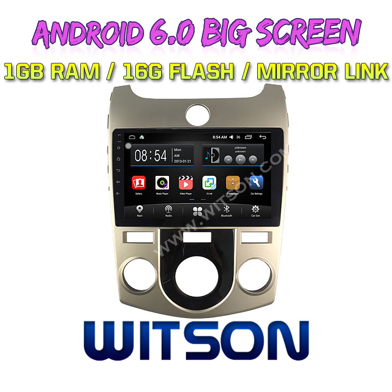 "WITSON 9"" BIG SCREEN ANDROID 6.0 CAR DVD <strong>PLAYER</strong> FOR KIA FORTE HAND A C"
