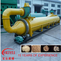 Indirect heating method dryer, drum rotary drying plants, dryer for sawdust