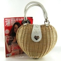 Cheap Cute straw wicker rattan woven basket tote bag